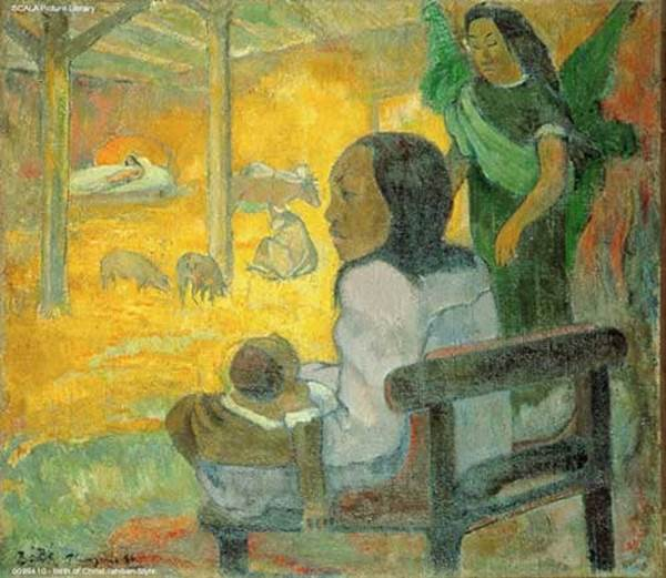 Birth of Christ Tahitian Style by Paul Gauguin