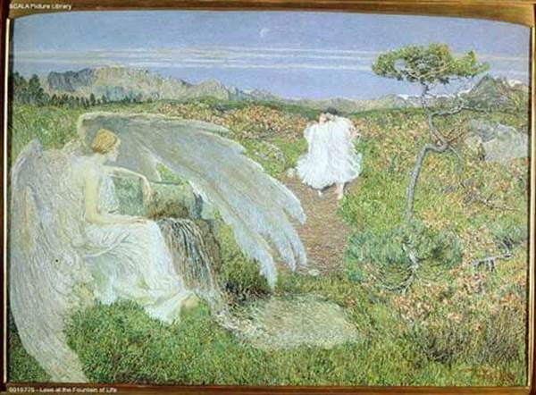 Love at the Fountain of Life by Giovanni Segantini