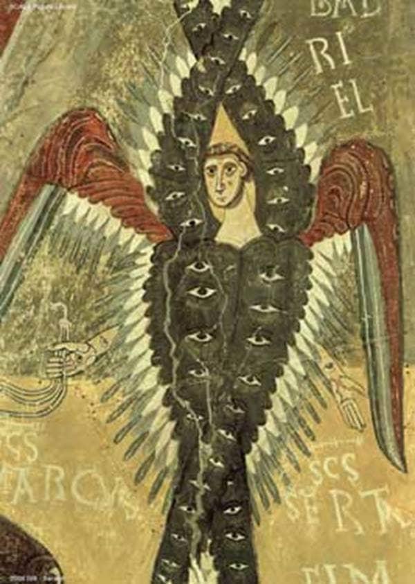 Seraphim (Romanesque Fresco, 12th Century)