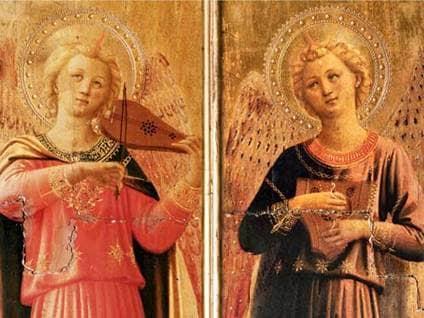 Linaiuoli Madonna (details) by Fra Angelico