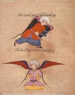 Two Angels (Islamic Illuminated Page, 16th Century)