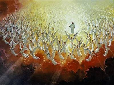 Lots of Angels and Jesus