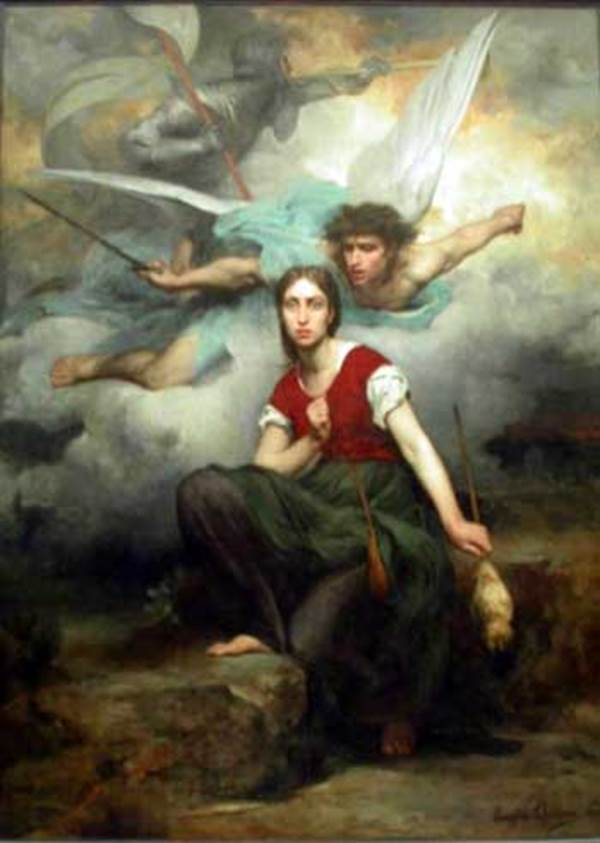 Jeanne d'Arc and the Archangel Michael by Eugene Thirion