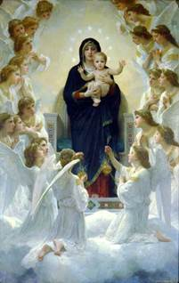 The Virgin with Angels by William-Adolphe Bouguereau
