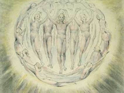 The Annunciation to the Shepherds by William Blake