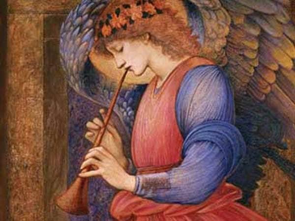"""Angel Playing a Flageolet"" br Edward Burne-Jones"