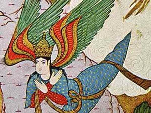 A Persian image of Jibrail (or, Gabriel)