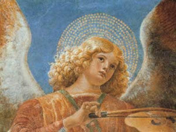 """Music Making Angel with Violin"" by Melozzo da Forli"