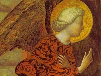 """Archangel Gabriel"" by Masolino da Panicale"