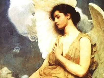 """Winged Figure"" by William Abbott Thayer"