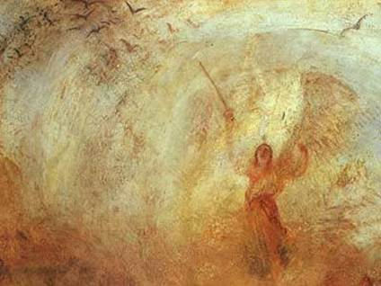 """Angel Standing in a Storm"" by J.M.W. Turner"