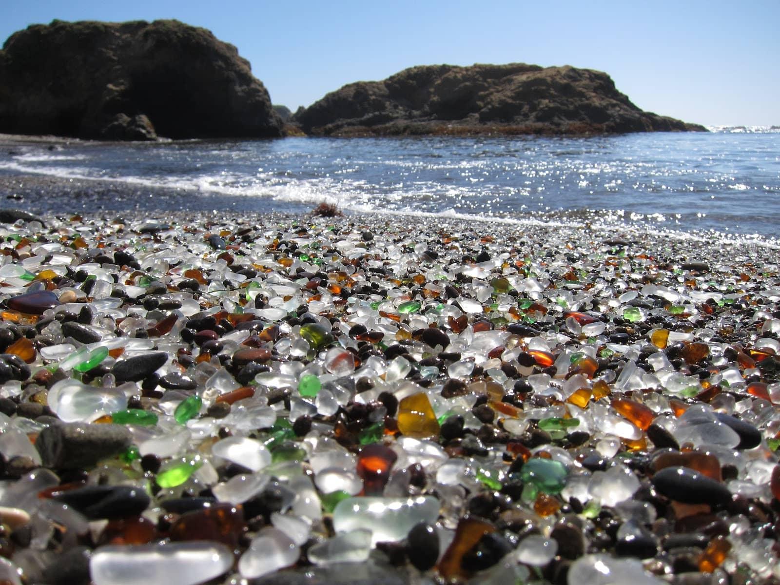glass beach, california, beach, pebbles, 20 Most Beautiful Places