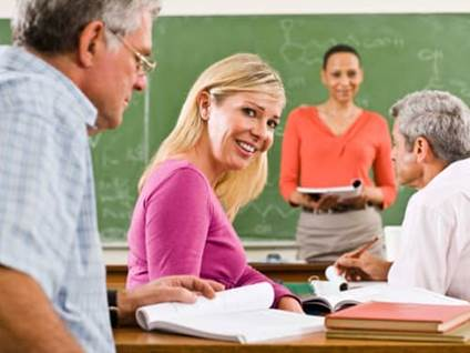 People in classroom