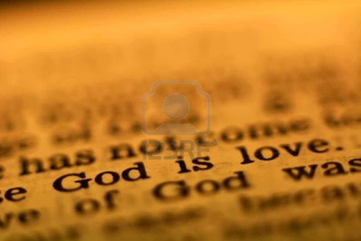 God Is Love Bible Page