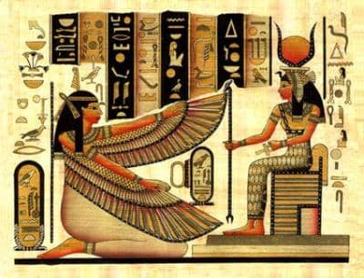 Goddess Maat and Goddess Isis