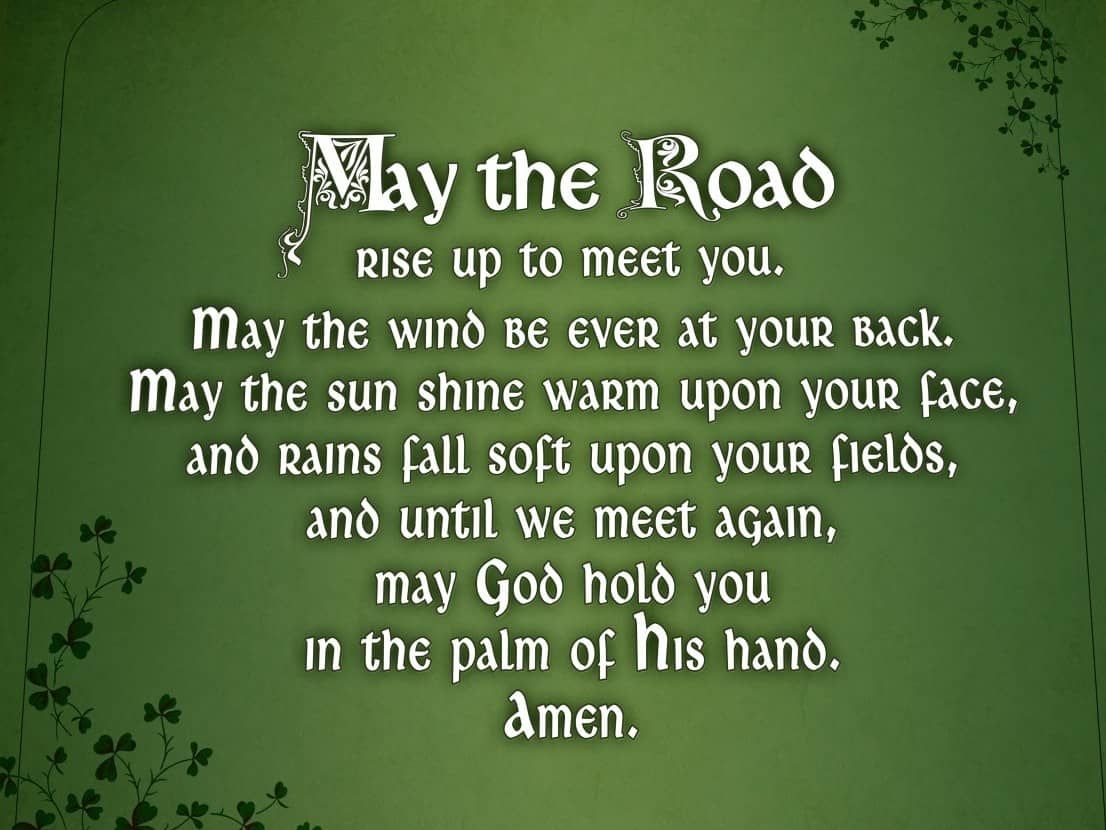 Irish Blessing Quotes When is Saint Patrick's Day, Inspirational Irish Blessings, St  Irish Blessing Quotes