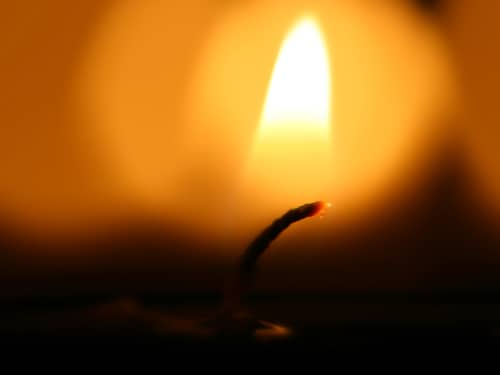 candle flame close-up
