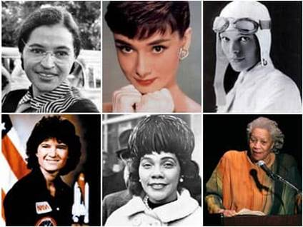 Great Women in History: Rosa Parks, Audrey Hepburn, Amelia Earhart, Sally Ride, Coretta Scott King, Toni Morrison