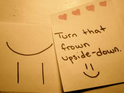 turn the frown upside down