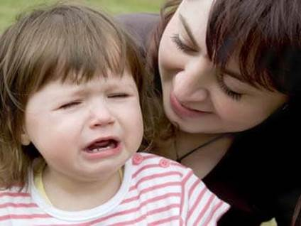Empathy - Mom Comforts Child