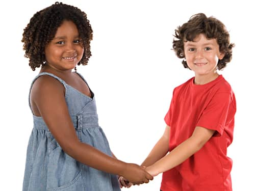Two friends - how kids learn respect