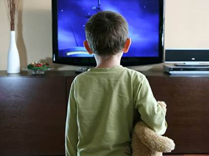 Teaching respect - child watching TV
