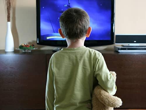 Teaching respect - child watching TV