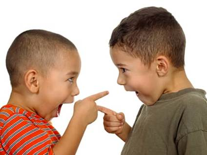 Teaching respect - two kids arguing