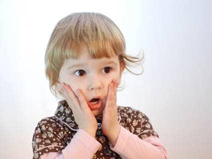 surprised toddler