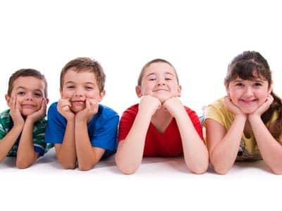 Smiling group of kids