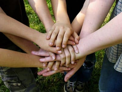 Hands together as a team