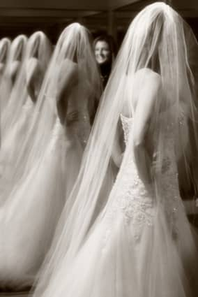 Bride's image going off into infinity