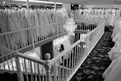 Wedding Dresses in the Store