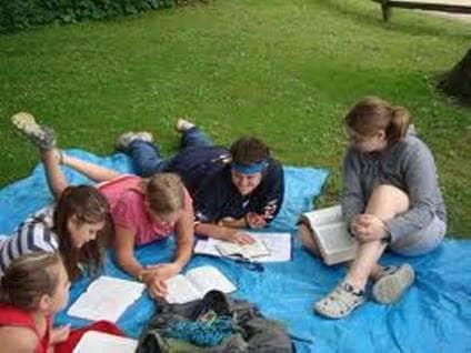 Bible Study Outside
