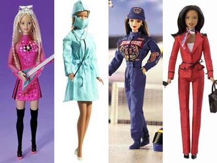 Barbie Careers Lead Singer Surgeon NASCAR Driver Presidential Candidate