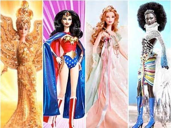 Barbie Collectibles Sun Goddess Wonder Woman Golden Angel Mbili