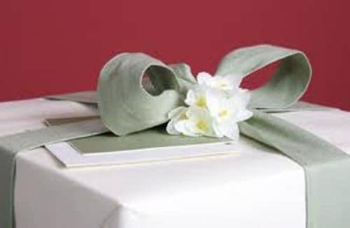 Flowers on a Gift Box