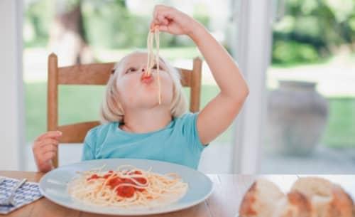 Kids Spilling Spaghetti