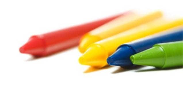 Crayon on Wood