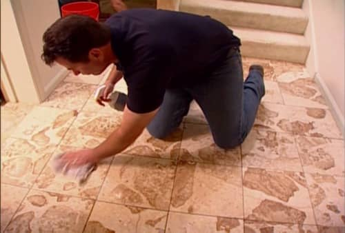 stains on stone floor
