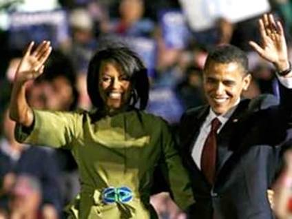 Michelle Obama - with Barack Obama