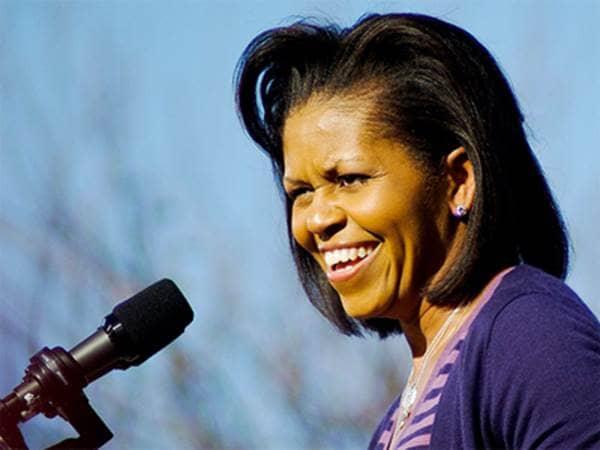 Michelle Obama speaking
