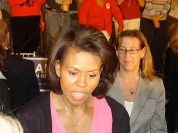 Michelle Obama speaking to working mothers