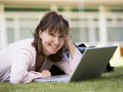 Back to School Continuing Education woman with laptop