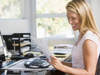 Back to School Continuing Education woman with report