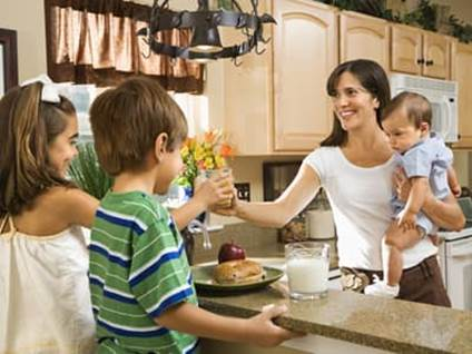 Back to School Continuing Education mother at home with kids