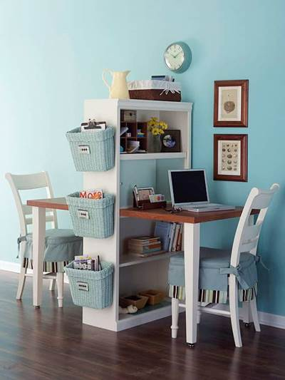 small space organizing, small space living ideas, small space interior decorating, Kathryn Bechen author, office space ideas, craft room decoration