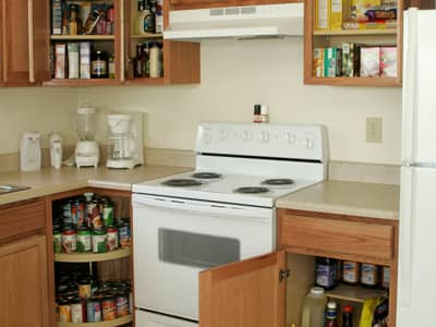 kitchen stock pile