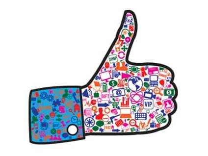 FB thumbs up like