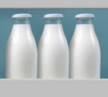 milk in fridge